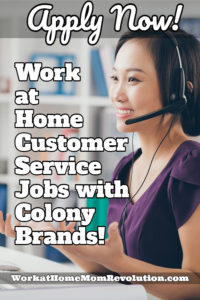 Work at Home: Colony Brands is Hiring Customer Service Agents!