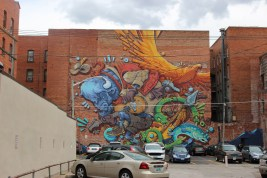 A cool mural off of 17th Street