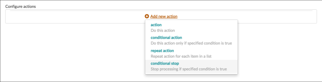 Conditional stop-