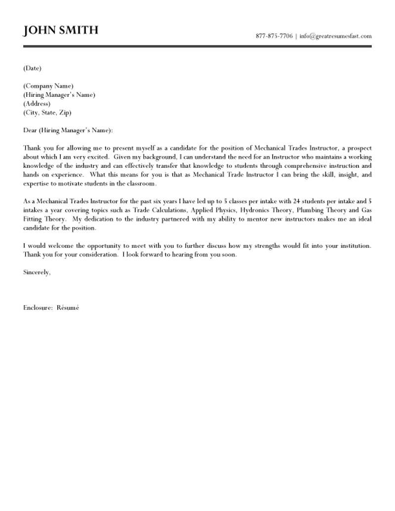 Cover Letter For Teachers Examples Images - Cover Letter Ideas