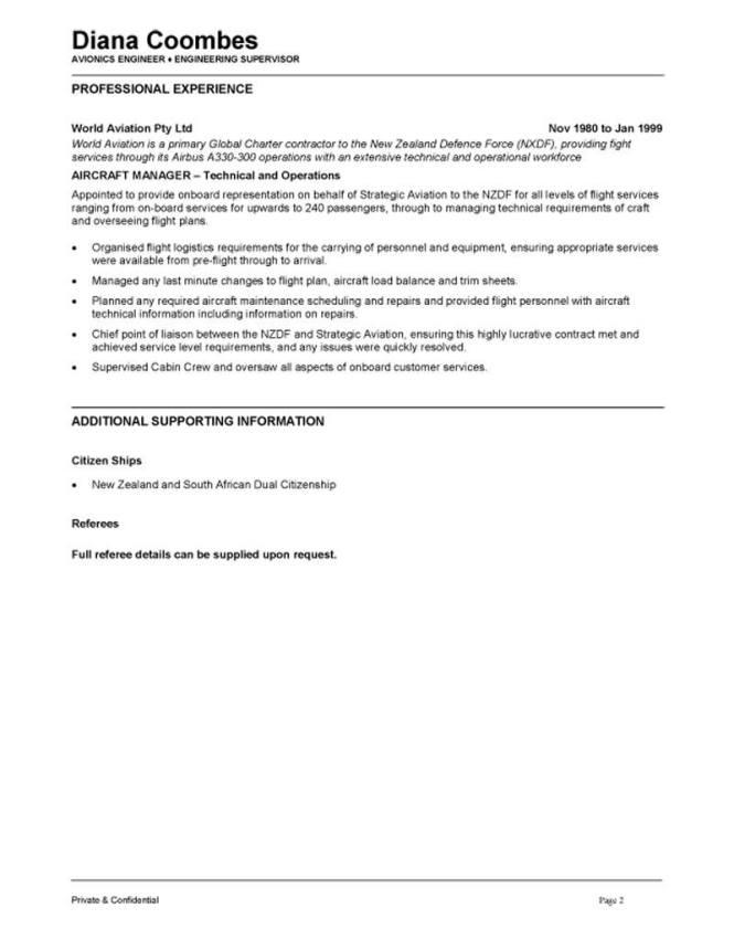 aircraft maintenance engineer resume