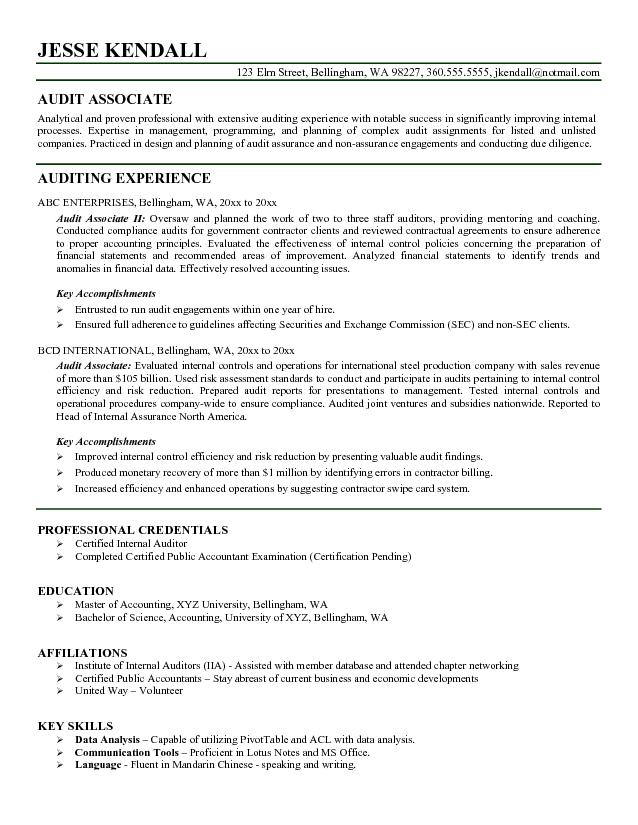 auditor resume