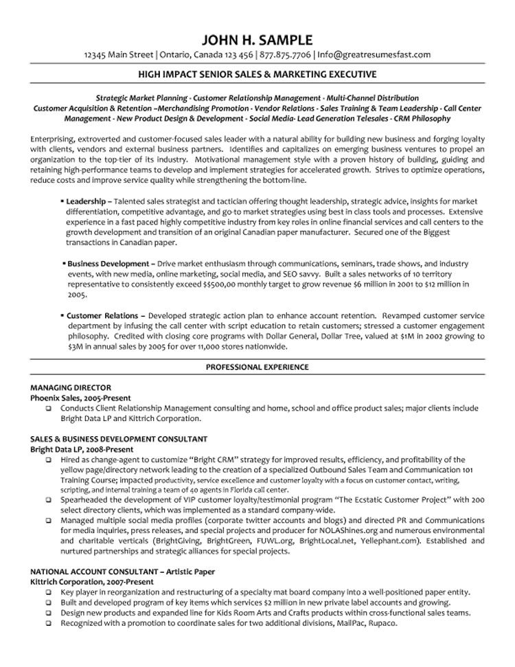 sample provided by great resumes fast