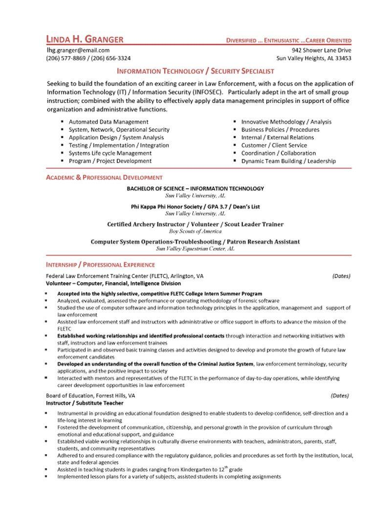 security resume examples and samples imeth co