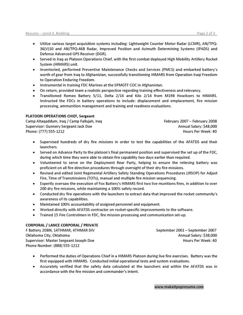Military Experience On Resume military experience 1 Adding Military Experience Civilian Resume Resume Sample Format With