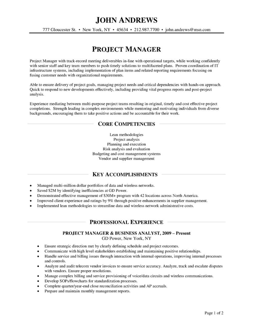 resume for non profit sample