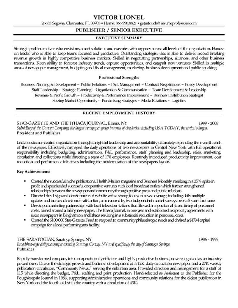 resume for senior journalist abij
