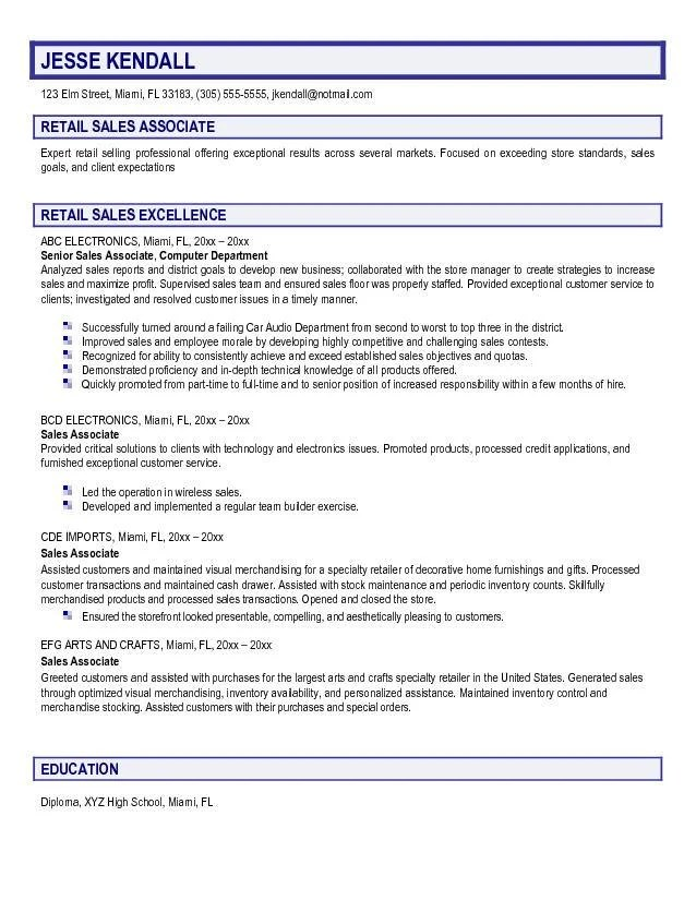 Resume For Retail Jobs Sample. Retail Resume Example Sample Retail