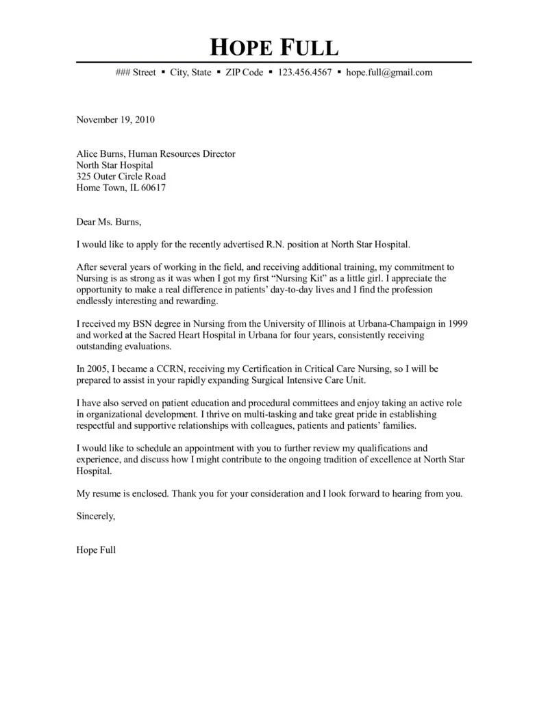 sample nursing cover letter   mamiihondenk.org