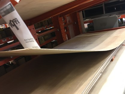 I wanted the ramp to curve, so this flexible/pliable wood was the winning contender