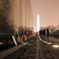 Vietnam Wall at night