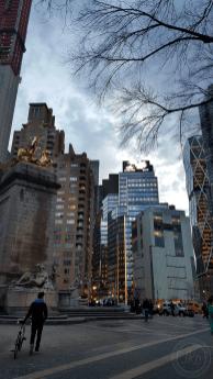 Central Park statues w bike 72