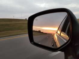 A western sunset in my rear view