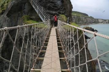 Cliff walking in Ireland
