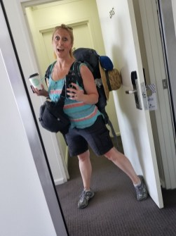 A typical morning for me! Not always leaving from a hotel, but always rolling my clothes, stuffing my bags, grabbing coffee, and out the door to another destination!