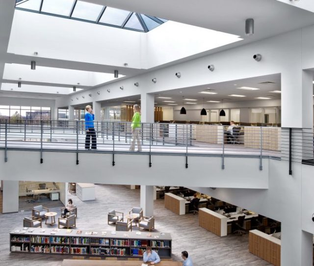 Skylights Draw Natural Light Into A Common Reading Room Where Staff Can Meet Reflect And Collaborate Photo By Eric Laignel Courtesy Of Hok