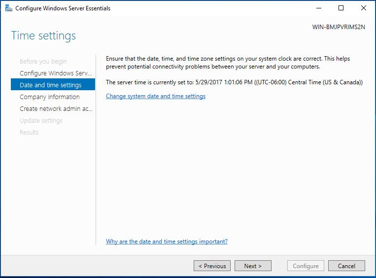 How To Set Up A New Windows Domain – Server 2016 Essentials