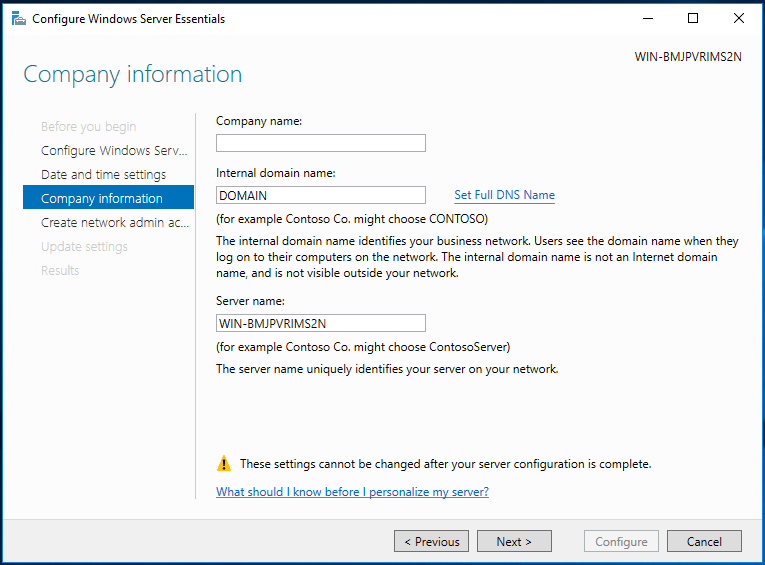 How To Set Up A New Windows Domain – Server 2016 Essentials