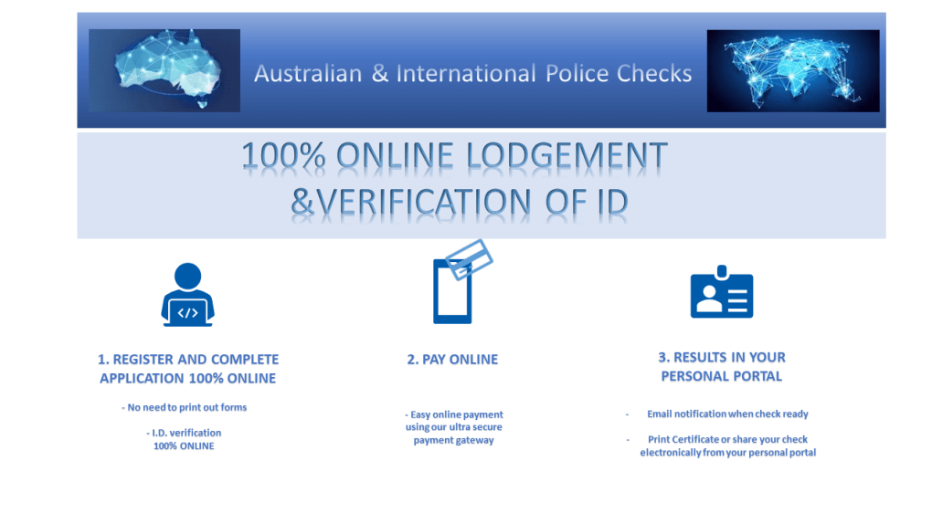 Process for online police check australia