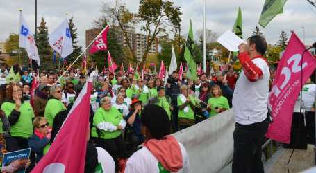 CUPE members from across Ontario rally together to demand better hospital funding