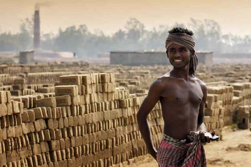 Brick factory worker