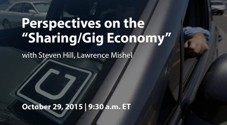 "Perspectives on the ""Sharing/Gig Economy"""