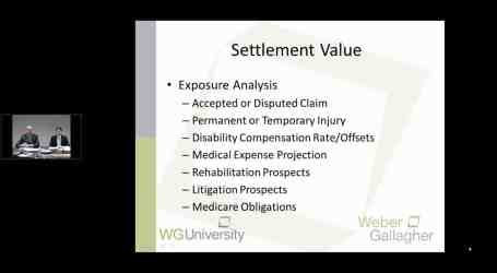 WG University – The Price is Right:  Settling Your Workers' Compensation Case…
