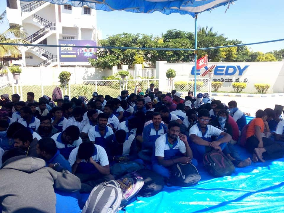 Exedy India workers protest against lockout and suspensions