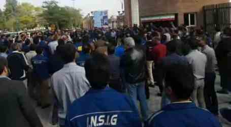 Iranian authorities beat and detain protesting steel workers