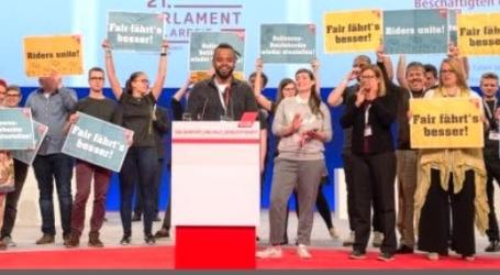 Germany: Standing ovation for dismissed Deliveroo shop stewards as DGB Congress pledges solidarity and support for rights in the platform economy