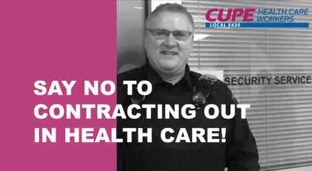 Health Care Security Review could open the door for more privatization, says CUPE 5430