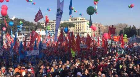 Italian unions stage a massive protest against government policy