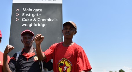 South Africa: Workers striking against precarious work at Arcelor Mittal