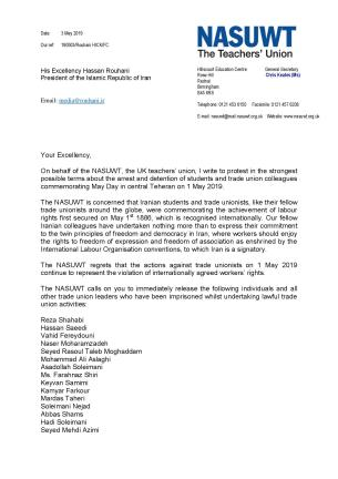 NASUWT condemned the MayDay arrests page 001