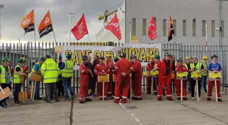 Support grows as Harland and Wolff shipyard occupation reaches five weeks