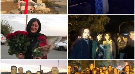 Sepideh Gholian, Atefeh Rangriz, Marzieh Amiri, Sanaz Elahyari, Amir Hossein Mohammadi Fard, and Amir Amirgholi, were released on heavy bails