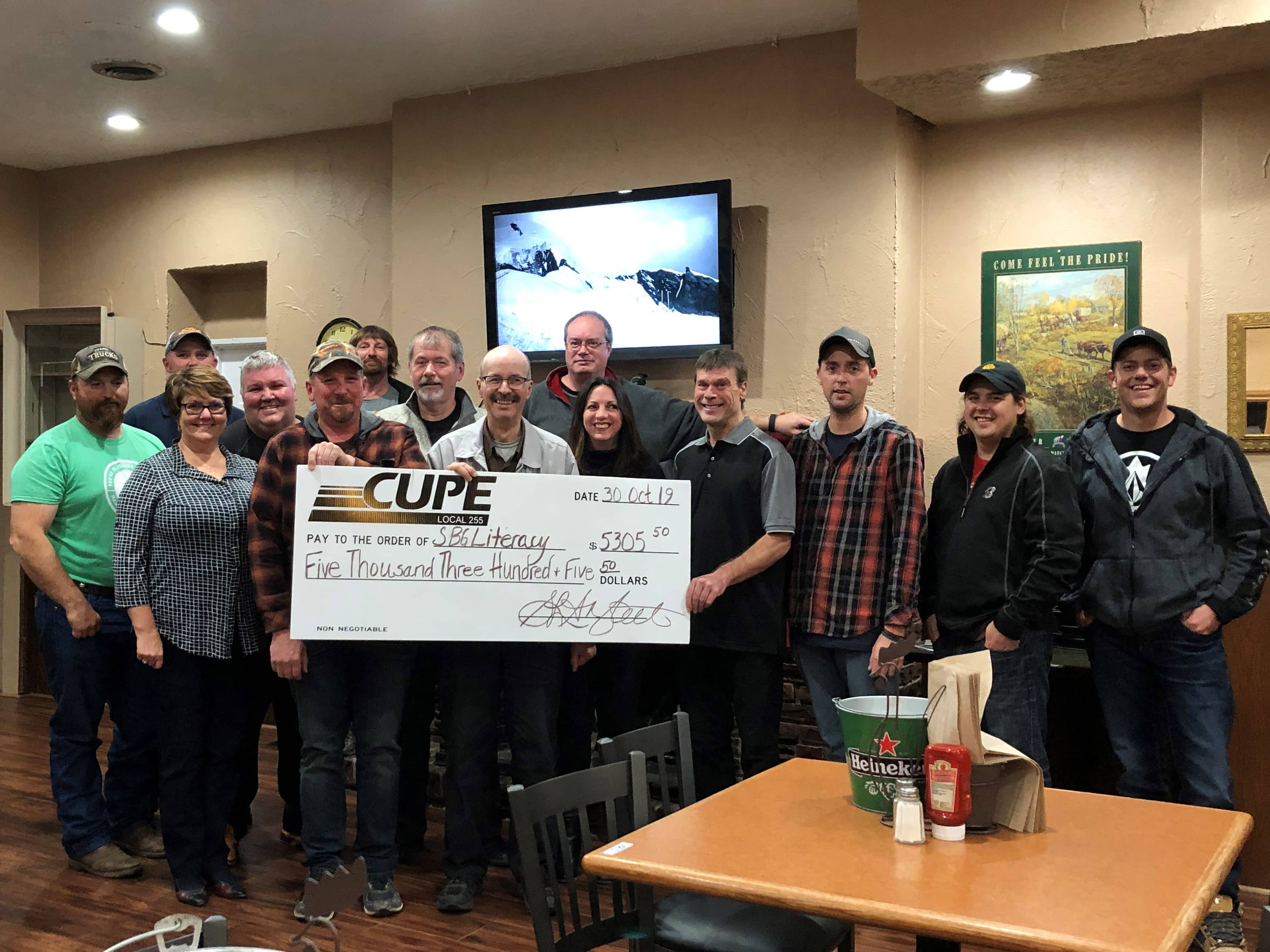 CUPE members in Bruce, Grey, and Wellington counties donate $100,000 to their communities