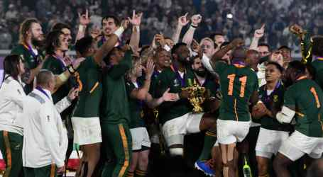 Union-made blazers for South Africa's Rugby World Cup champions