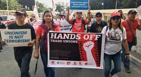 Unions take action for the Philippines