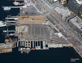 Working from Barges – Seattle's Colman Dock Project Underway