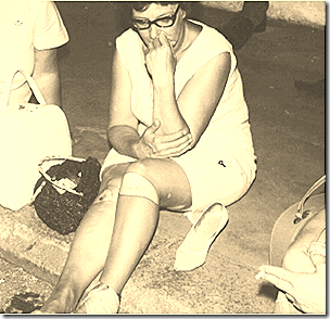 Norma Chalmers injured on a protest against LBJ