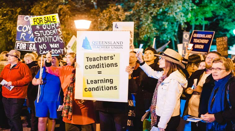 Rallies against Qld Government