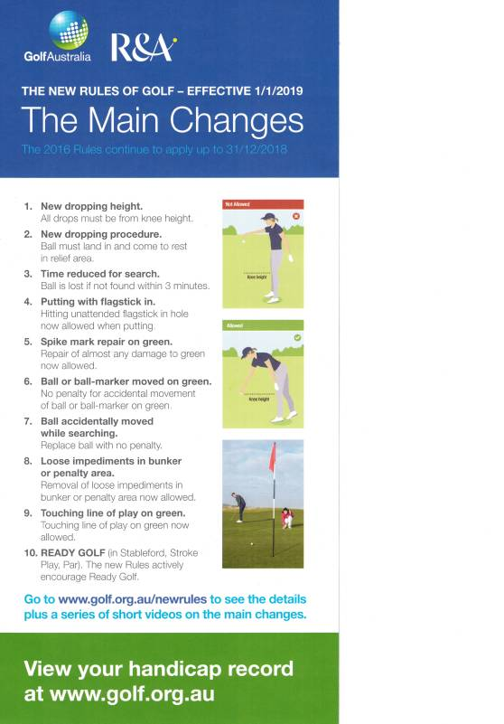 R&A New Rules Jan 2019