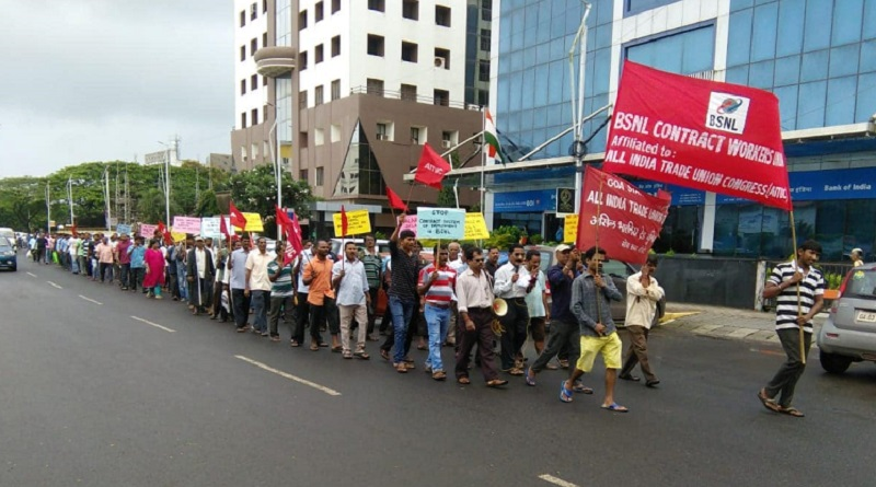 bsnl employees protest @JohnClark
