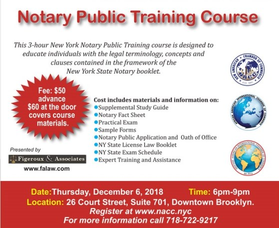 Nyc notary exam schedule 2019