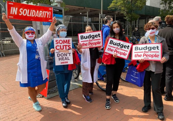Bellevue Nurses and Allies Demand Funding for Healthcare Before Next Covid Surge