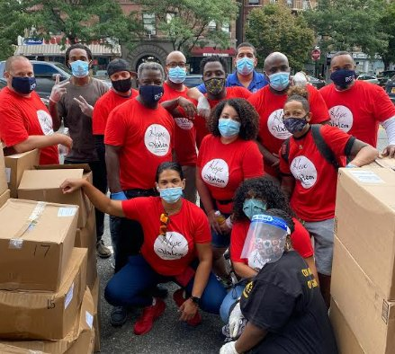 Painters Union District Council 9 Donates Thousands of Groceries, Care Packages and Hot Meals at Hope for Harlem Event