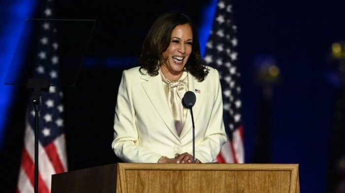 Watch Vice President-elect Kamala Harris' full acceptance speech from Delaware Saturday night