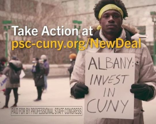 CUNY Faculty, Staff Union Launches Ad Campaign Calling On State to Invest In a New Deal For CUNY