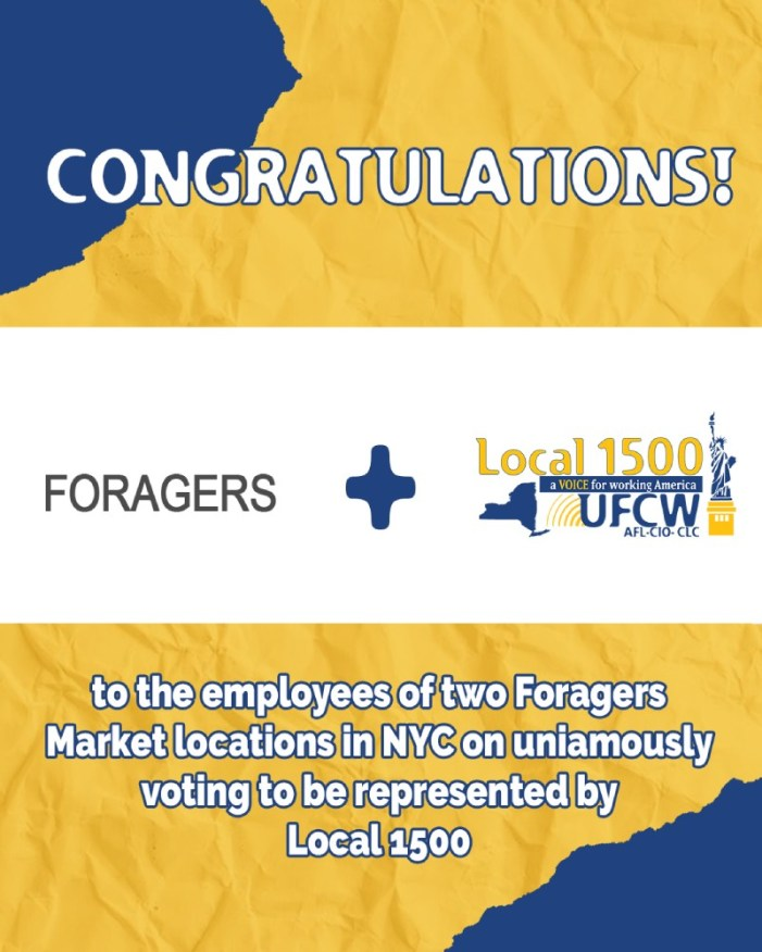 Foragers Market Workers Join in Union with UFCW Local 1500